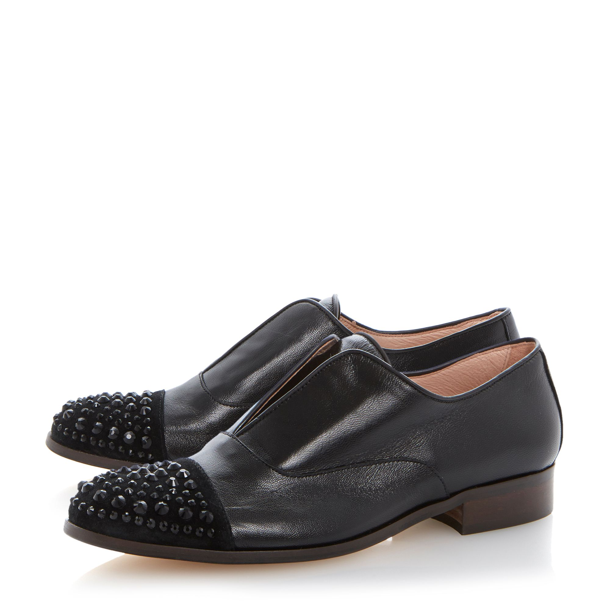 Harri leather round toe loafer shoes