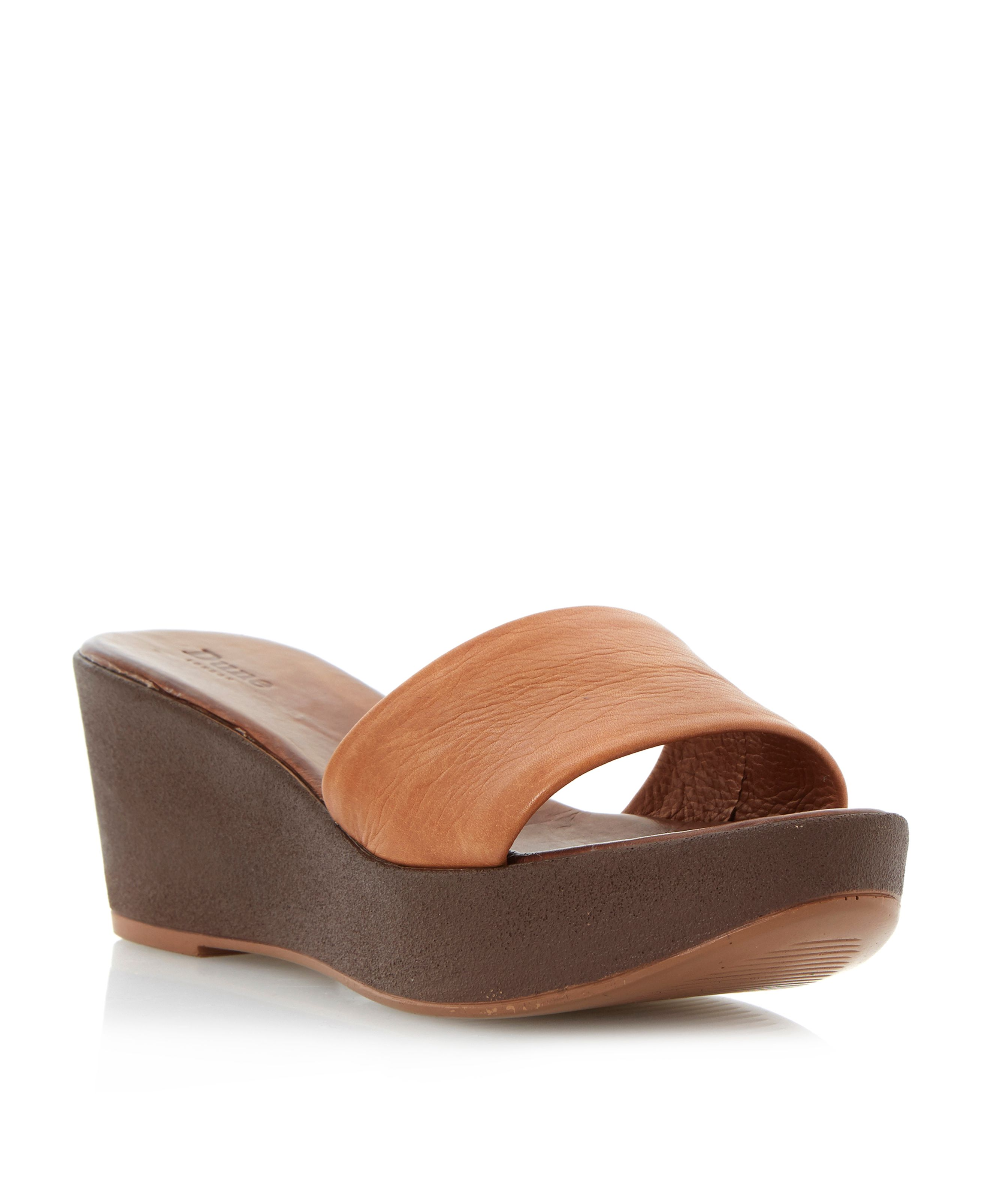 Gretta leather wedge sandals