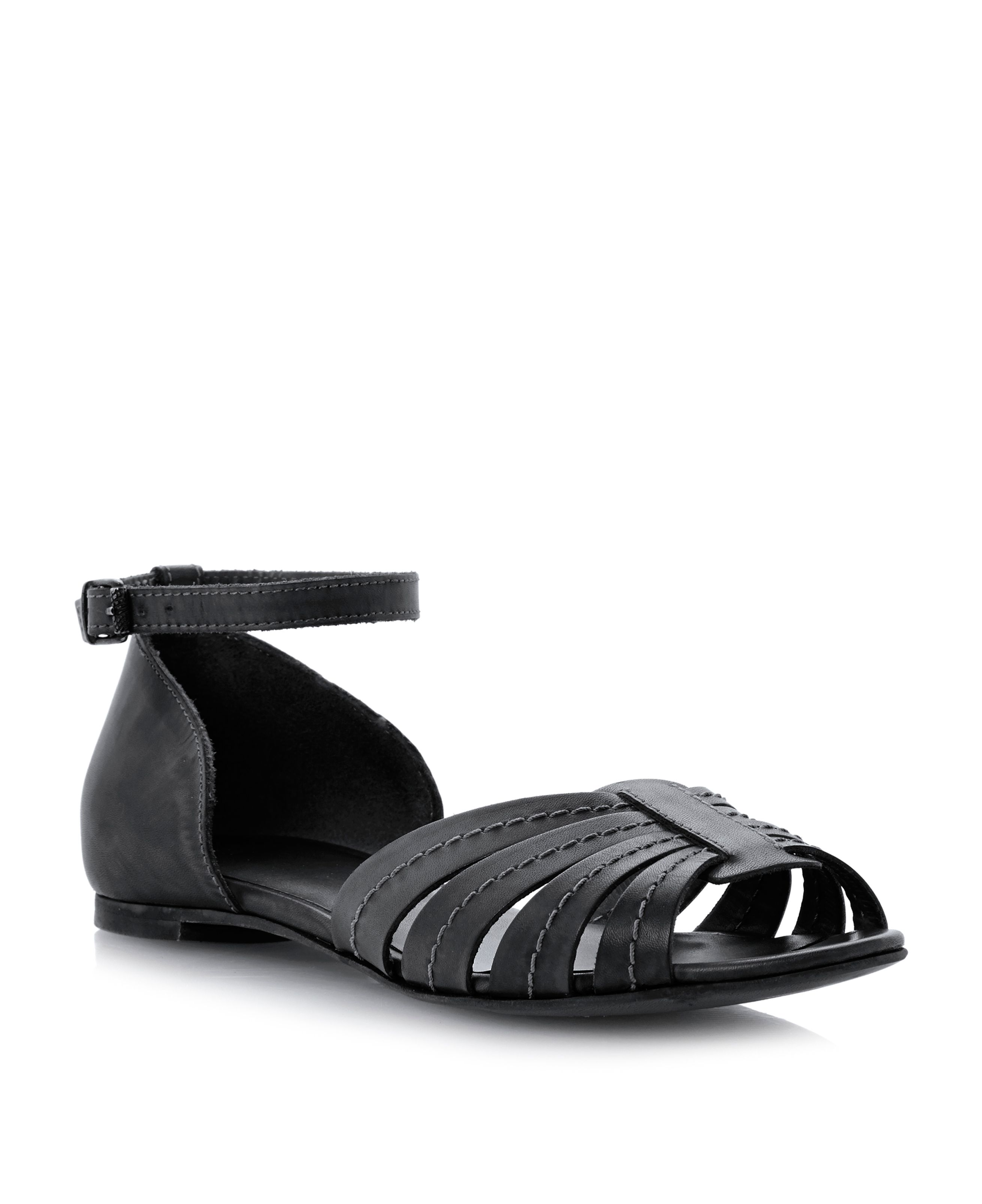 Janos leather block heel buckle sandals