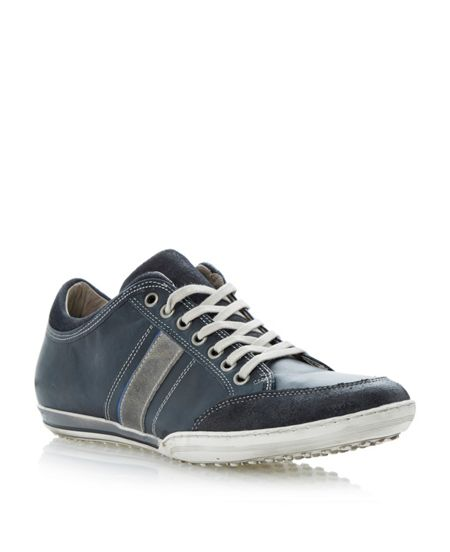 Dune Tipple colour side panel lace up trainers