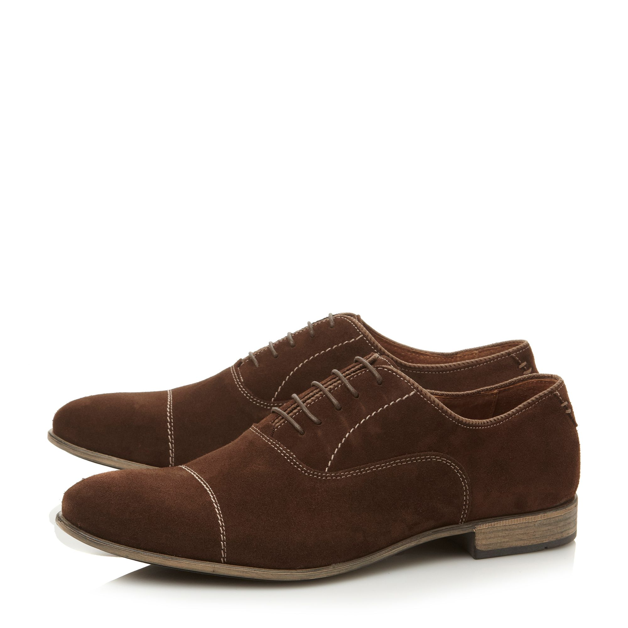 Bridgewater lace up stitched toecap oxford shoes
