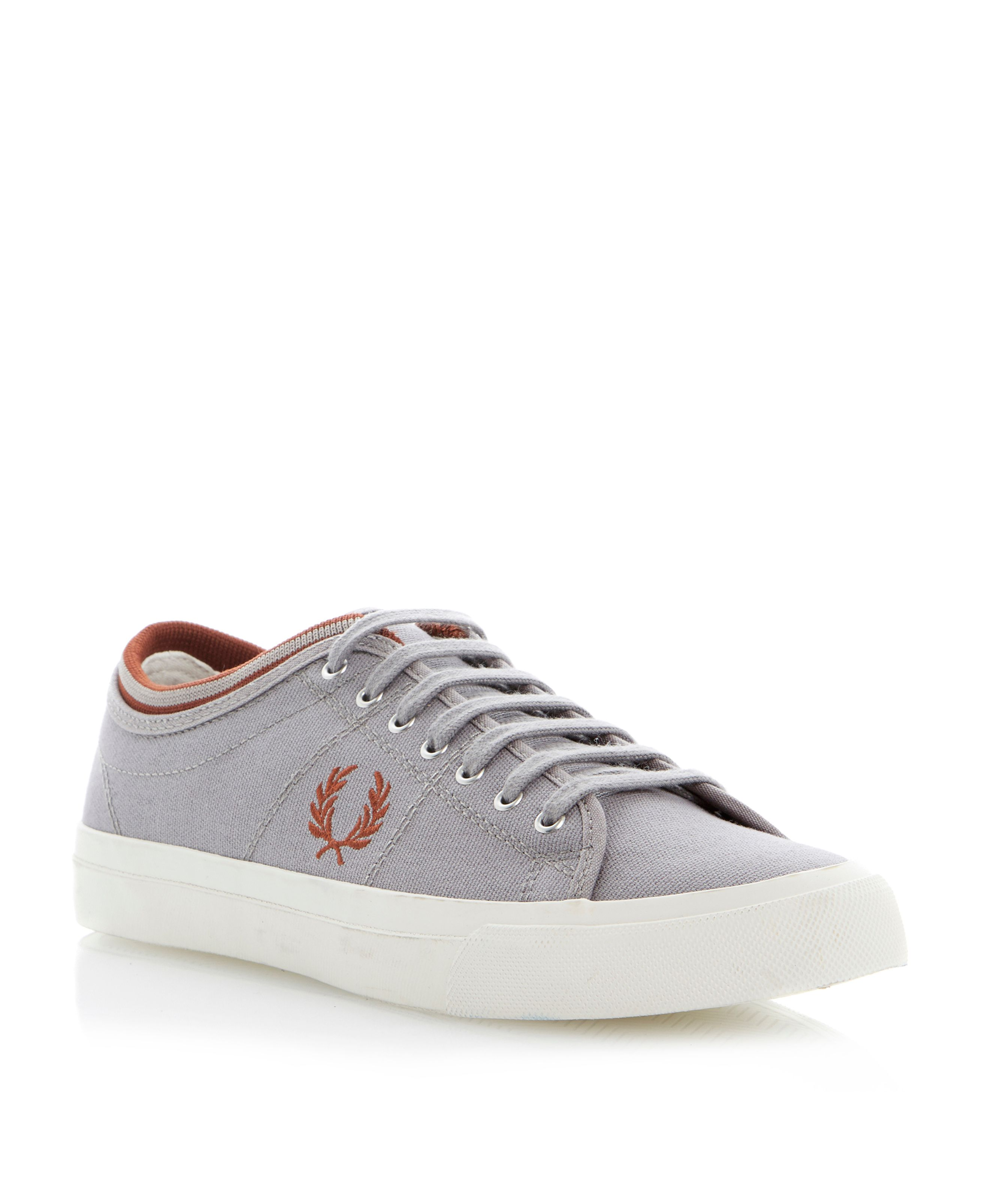Kendrick tipped cuff lace up trainers