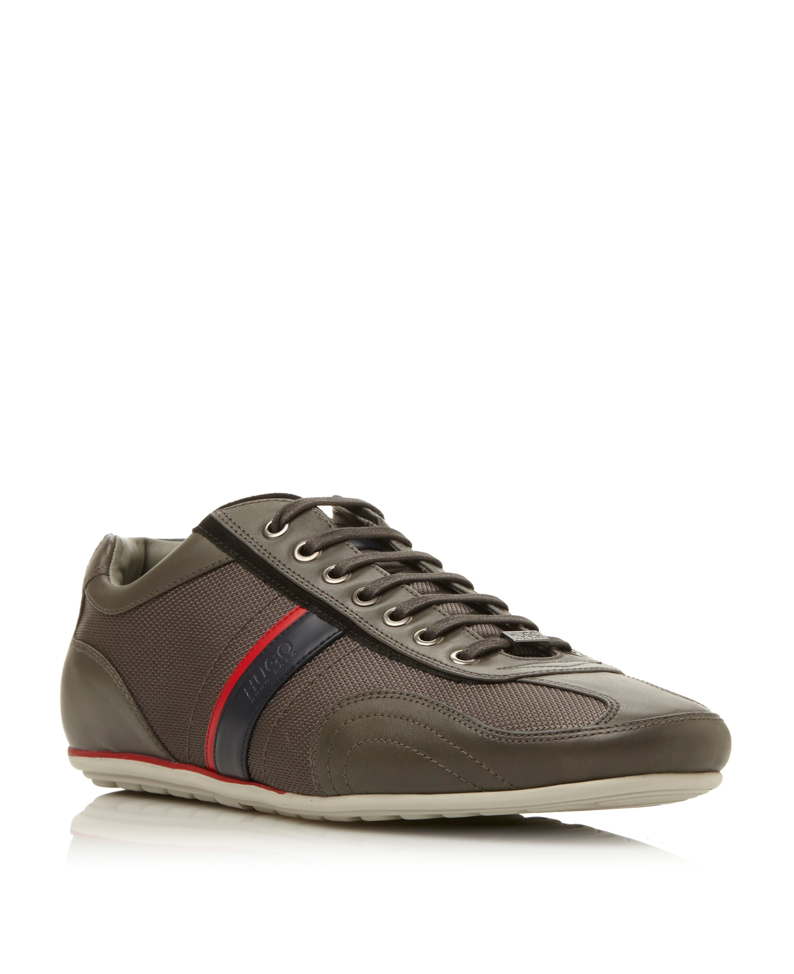 Thatoz 2 tone side stripe lace up trainers