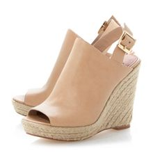Corizon high vamp peeptoe wedge sandals