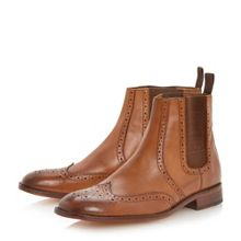 Mercutio elasticated brogue chelsea boots