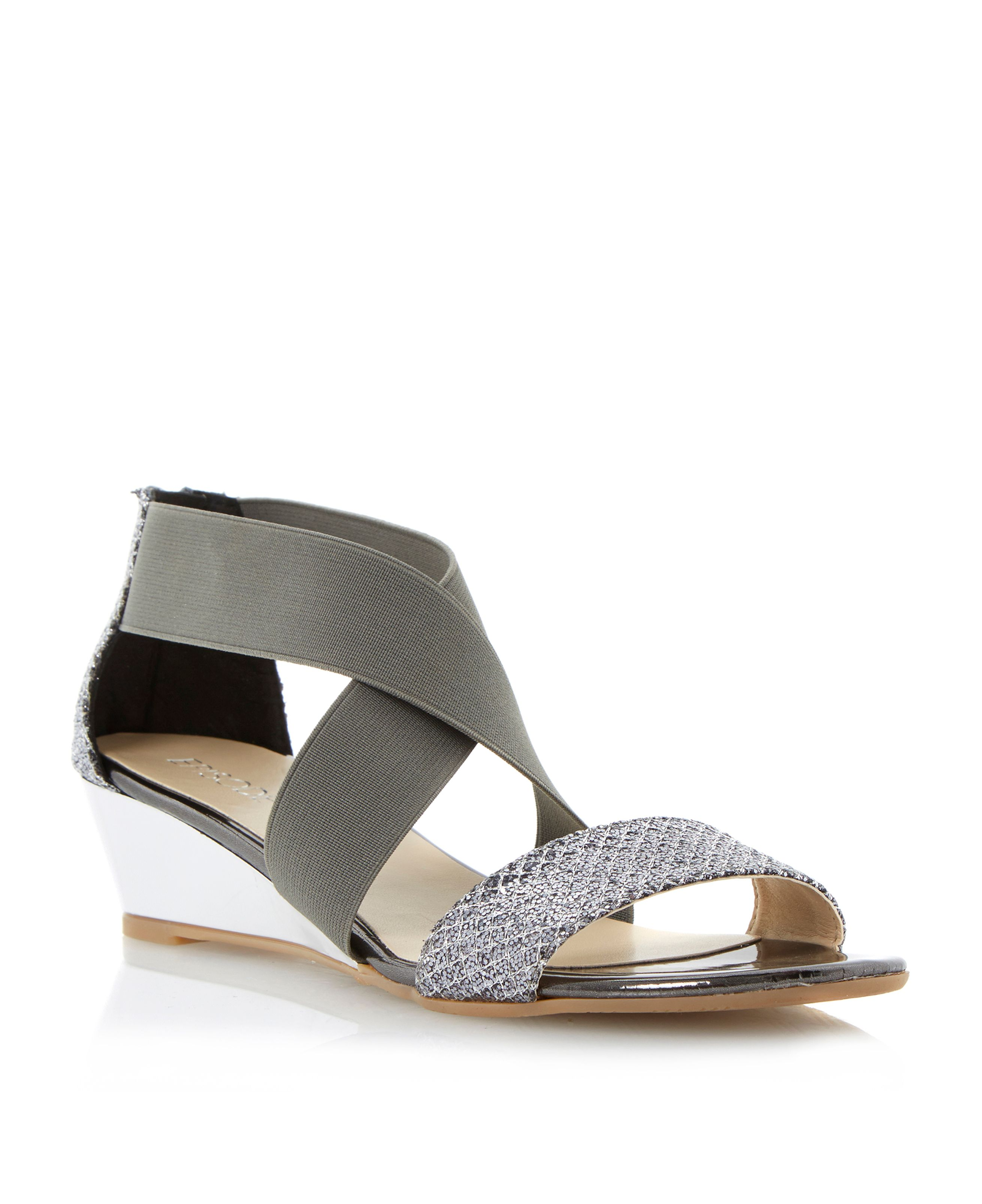 Gila wedge strappy sandals