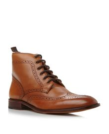 Marble arch lace up brogue boots