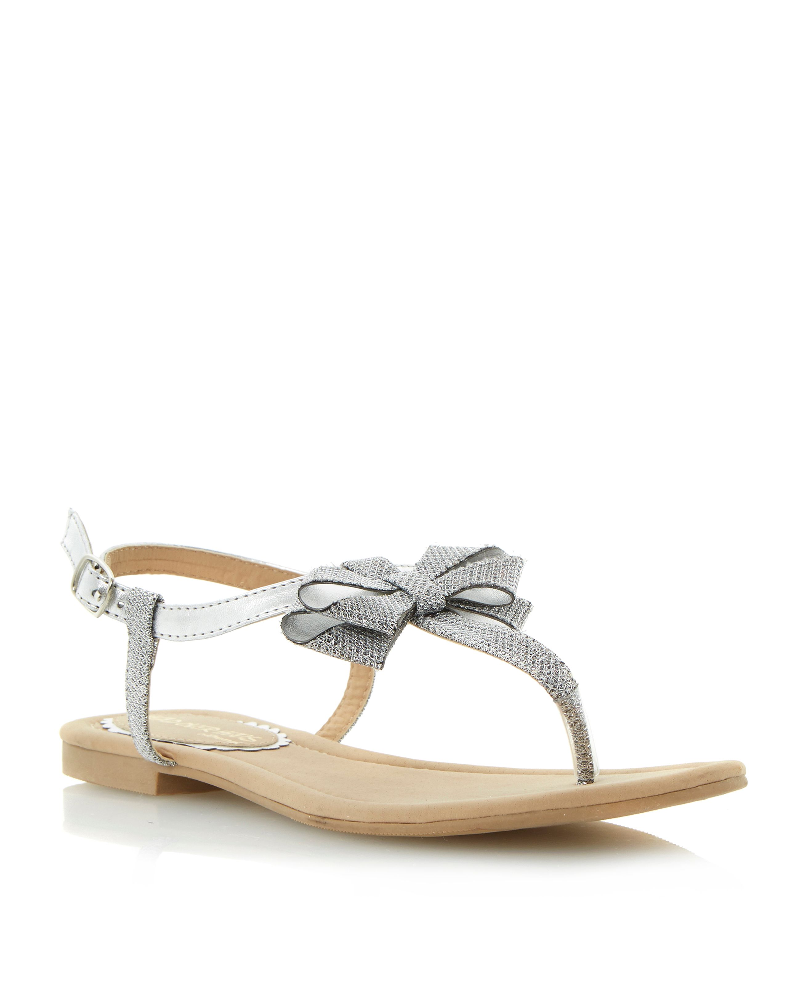 Jillions lurex bow sandals