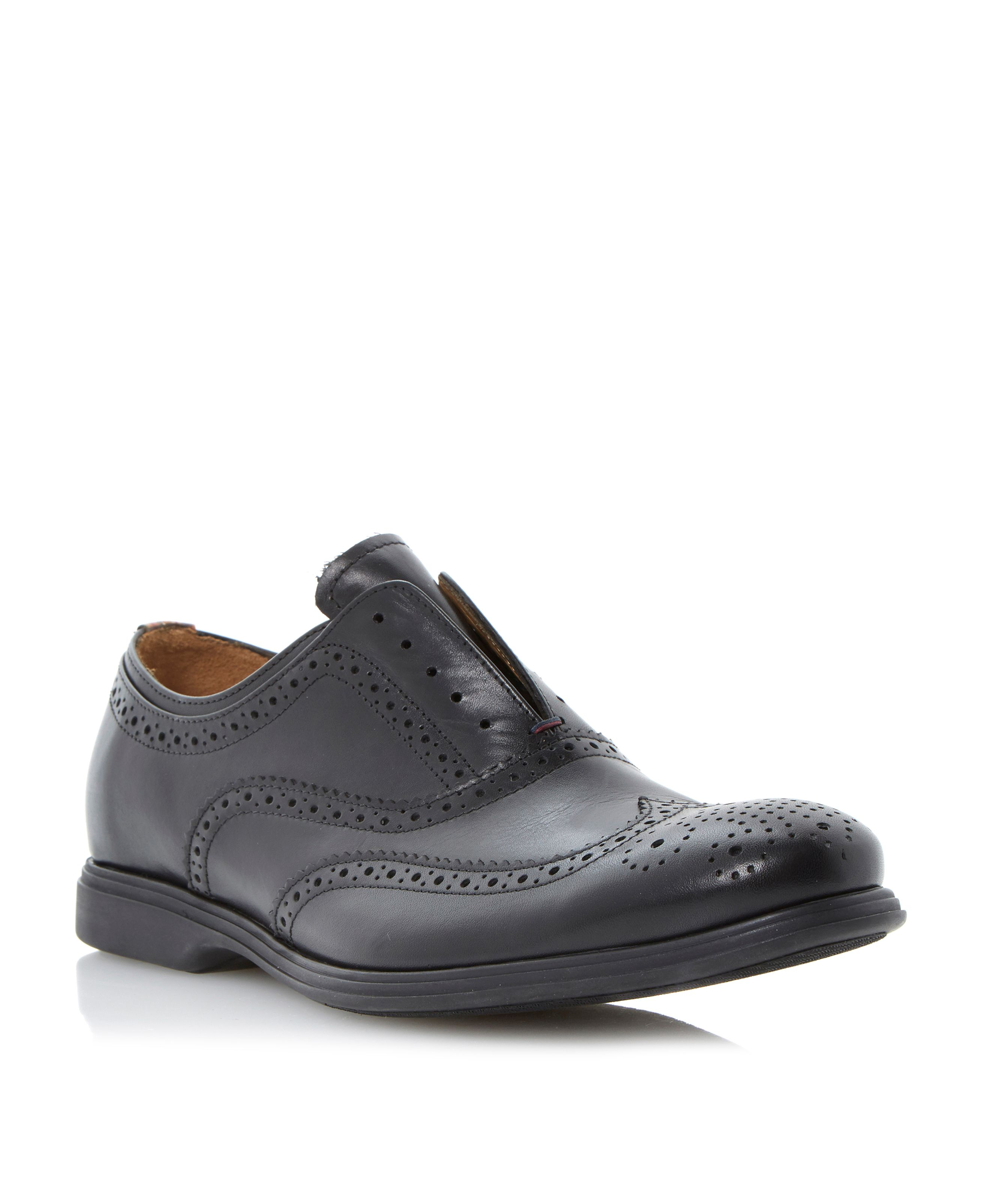 Carson  rubber sole wingtip oxford shoes