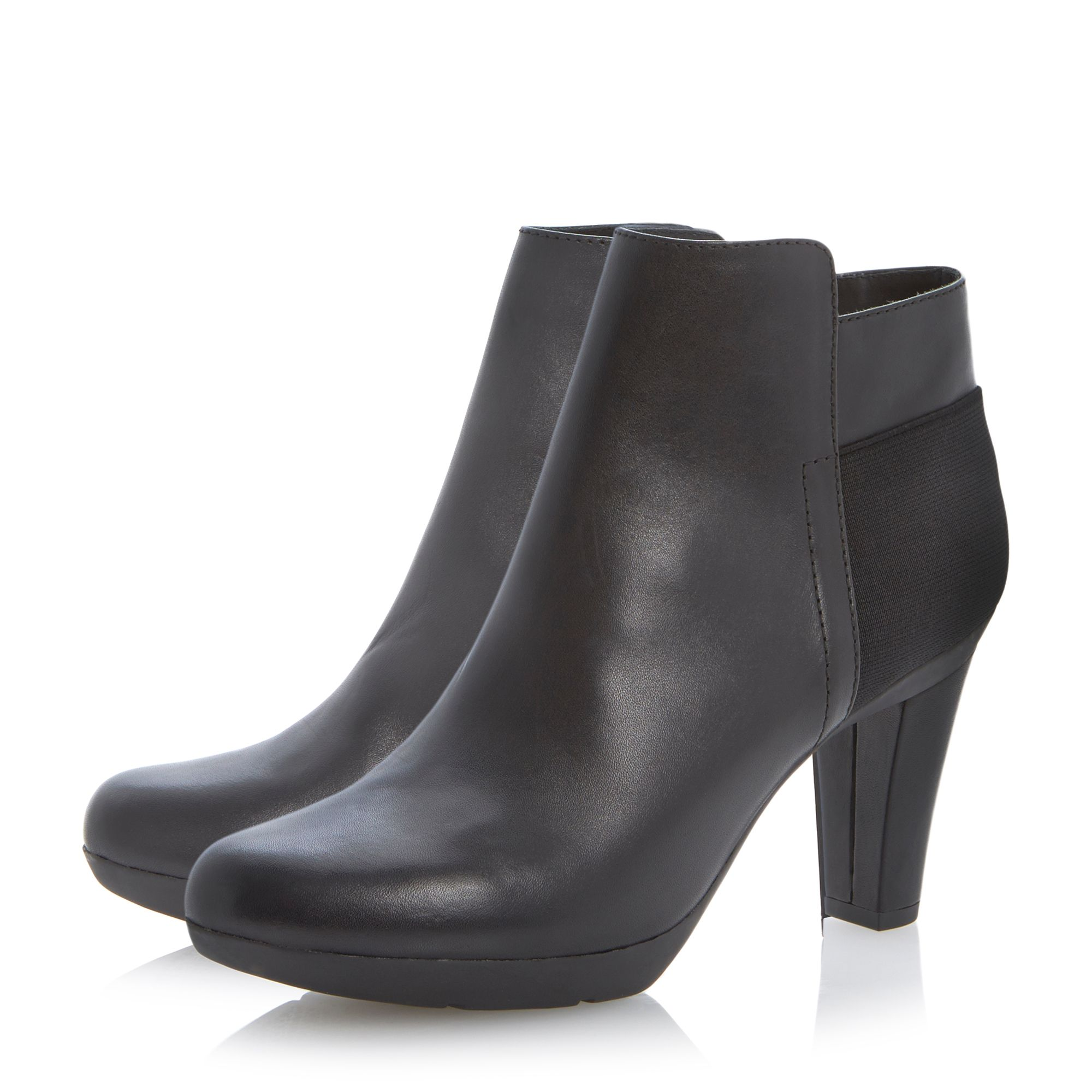 Inspiration plain toe ankle boots