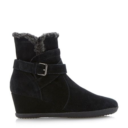 Geox Amelia stivali wedge buckle ankle boots