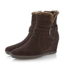 Amelia stivali wedge buckle ankle boots