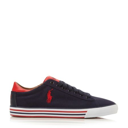 Polo Ralph Lauren Harvey-ne lace up foxing detail sneakers