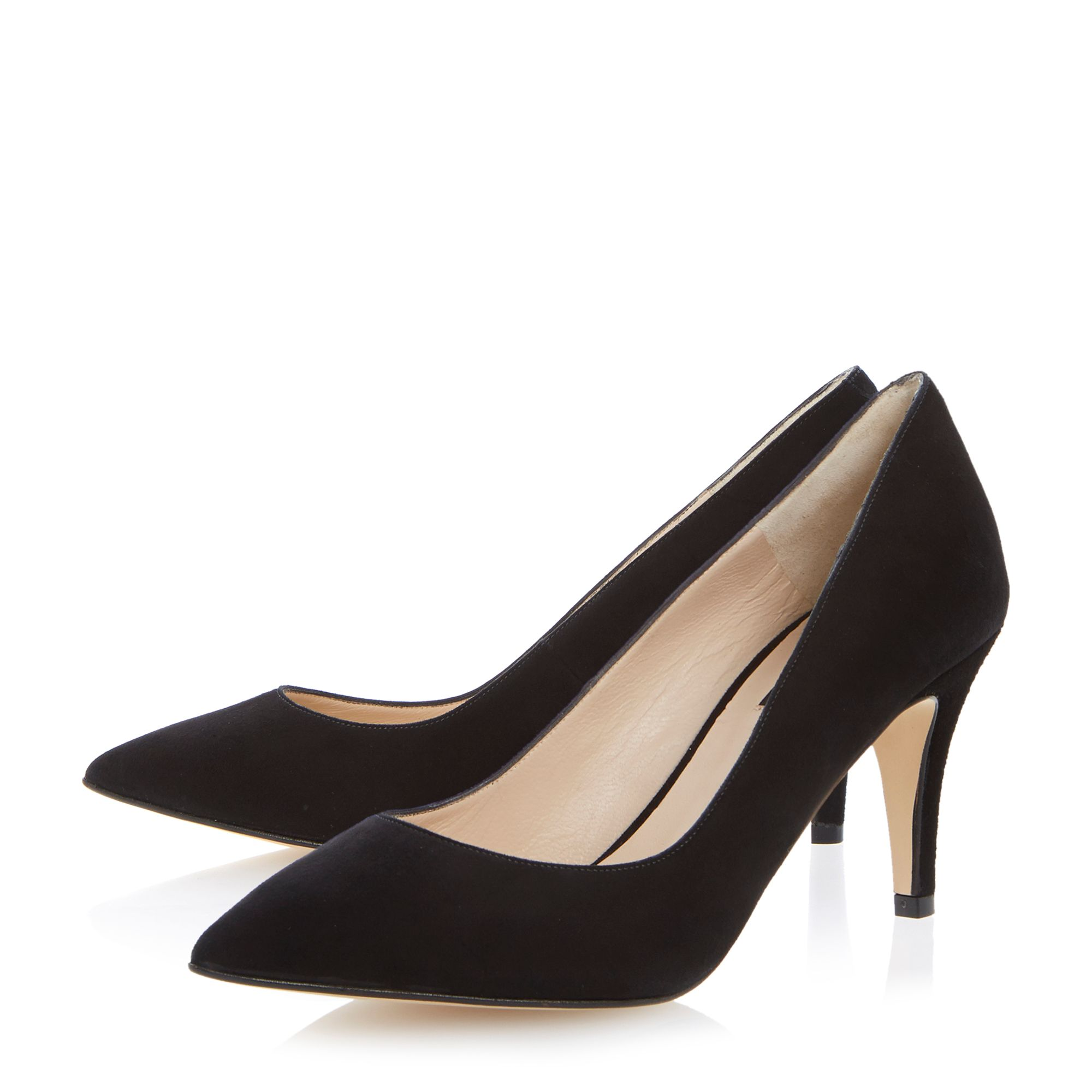 Astly suede pointed toe stiletto court shoes