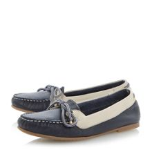 Lautical suede round toe flat deck shoes