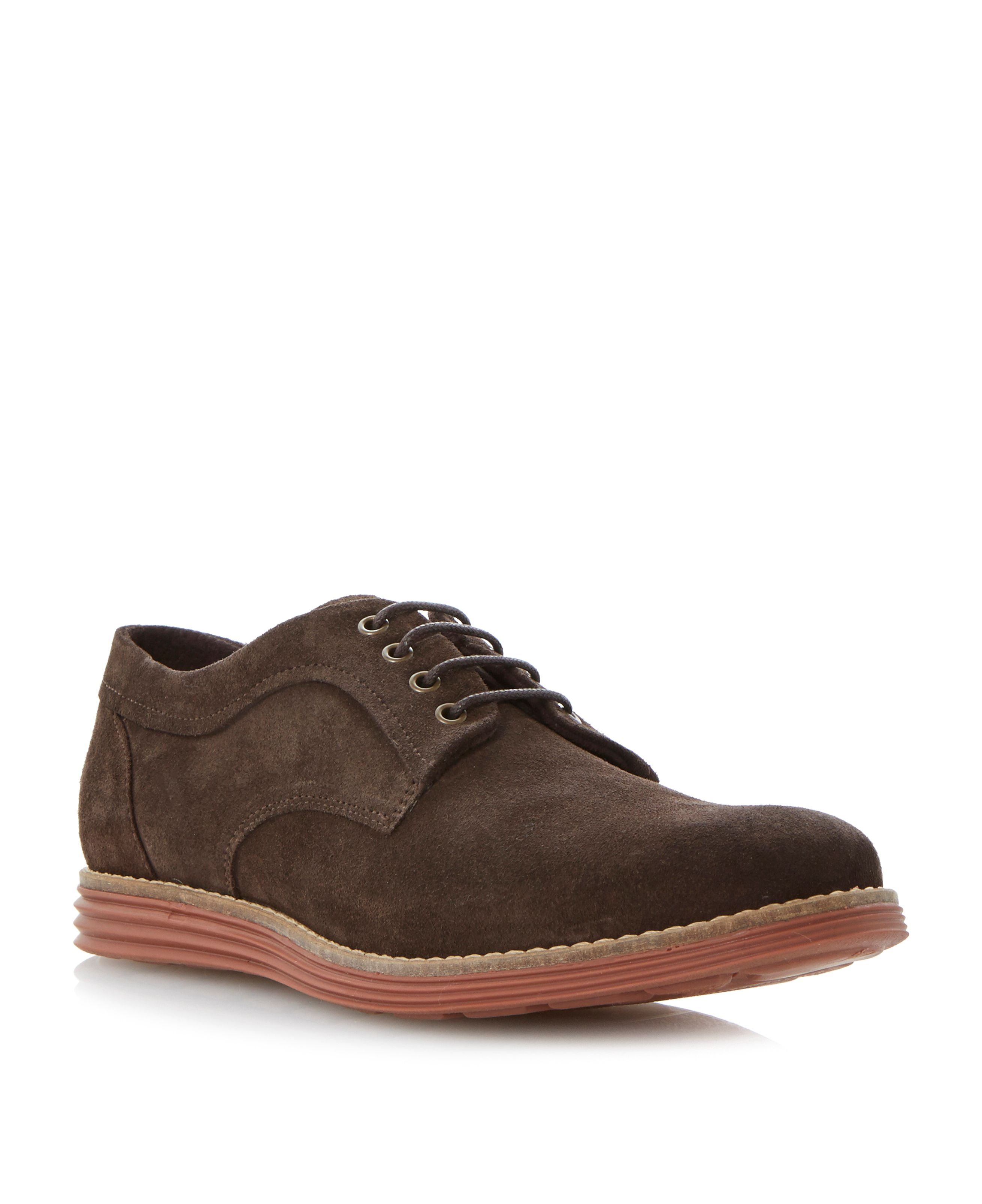 Baycliff contrasting wedge sole lace up shoes