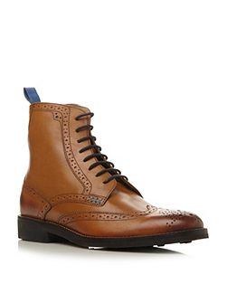 Airton lace up brogue boots