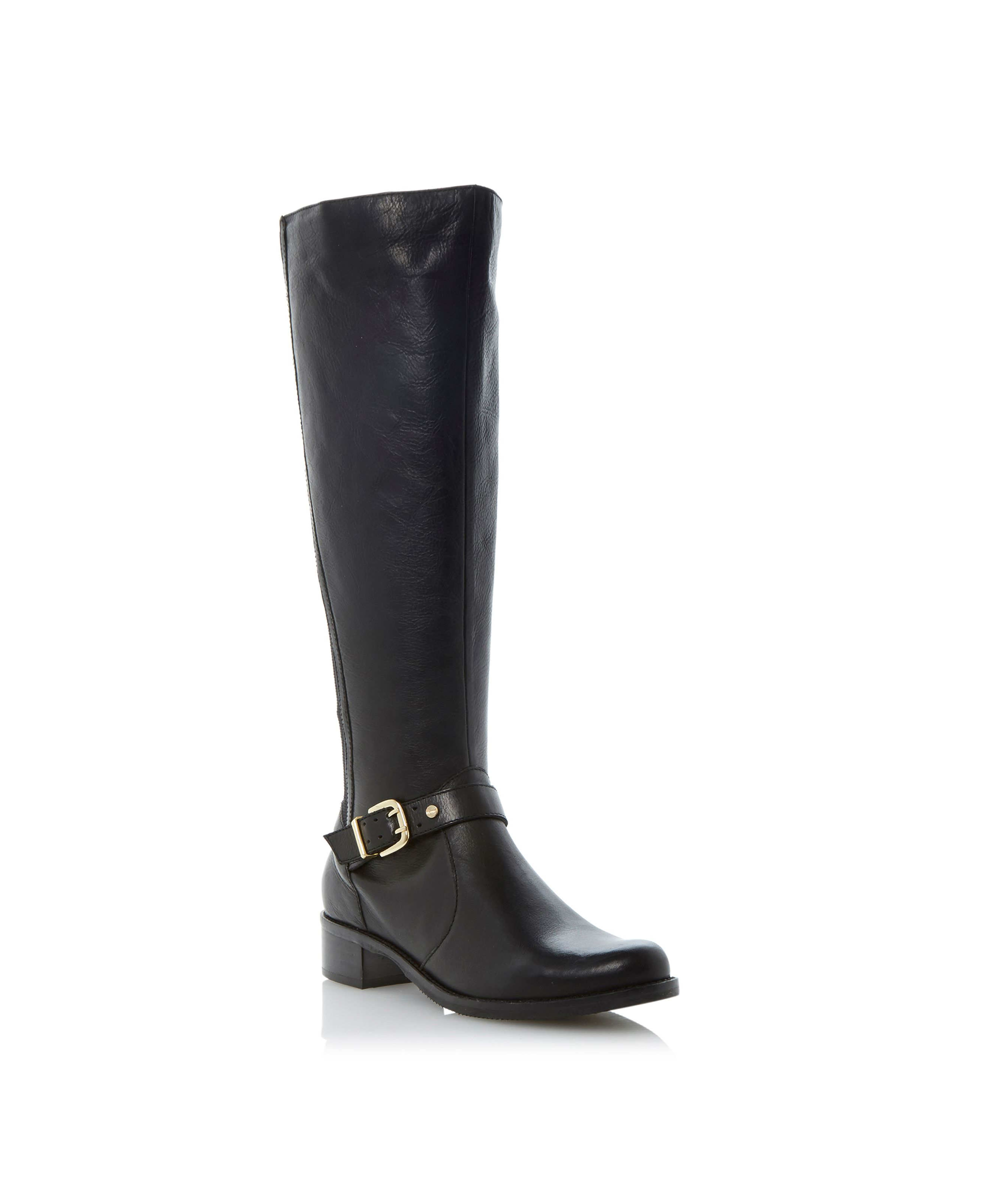 Tippler buckle elastic riding boots