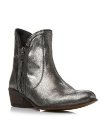 Zipster Cuban Heel Ankle Boot