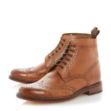 Calibrate lace up brogue boots