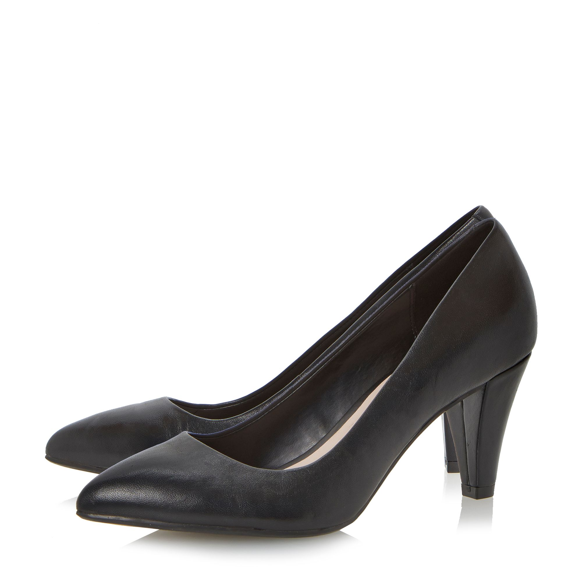 Ashlie block heel court shoes