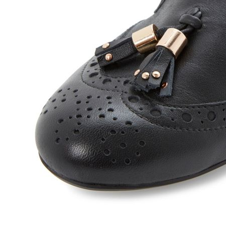 Dune Loki brogue tassel detail loafers