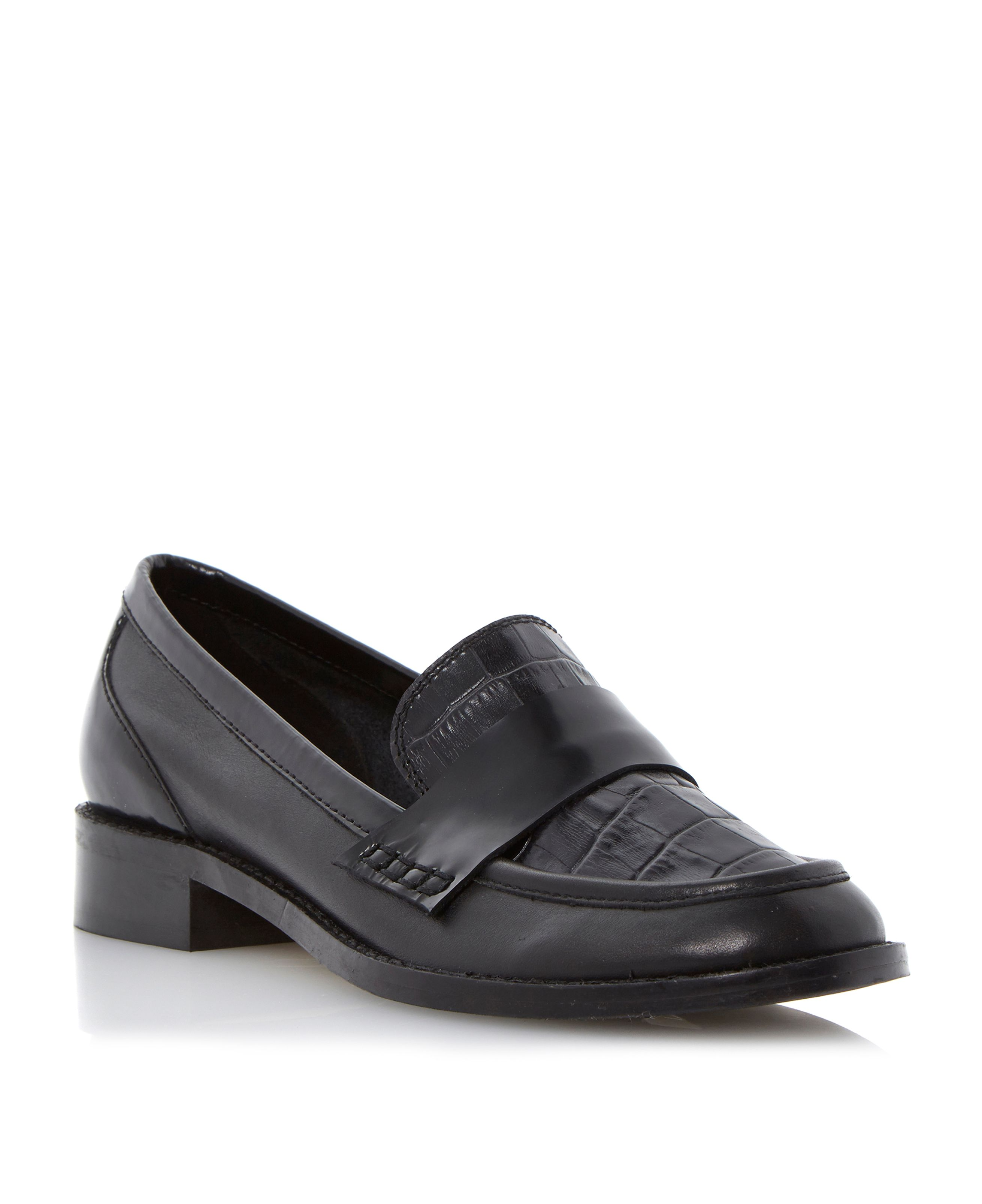 Liger mixed leather saddle loafers