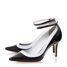 Antonia ankle strap pointed court shoes