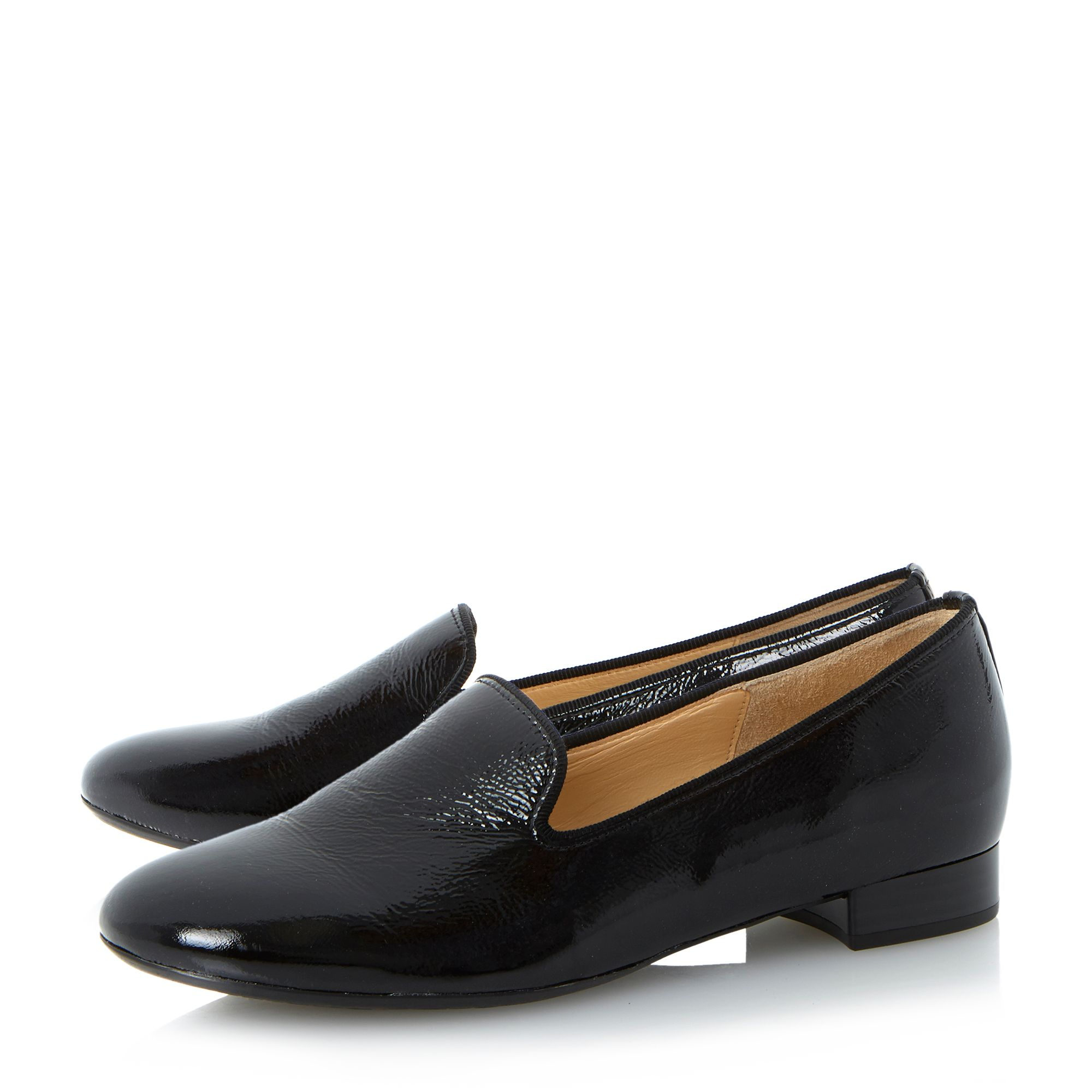 Abalina patent slipper cut loafers