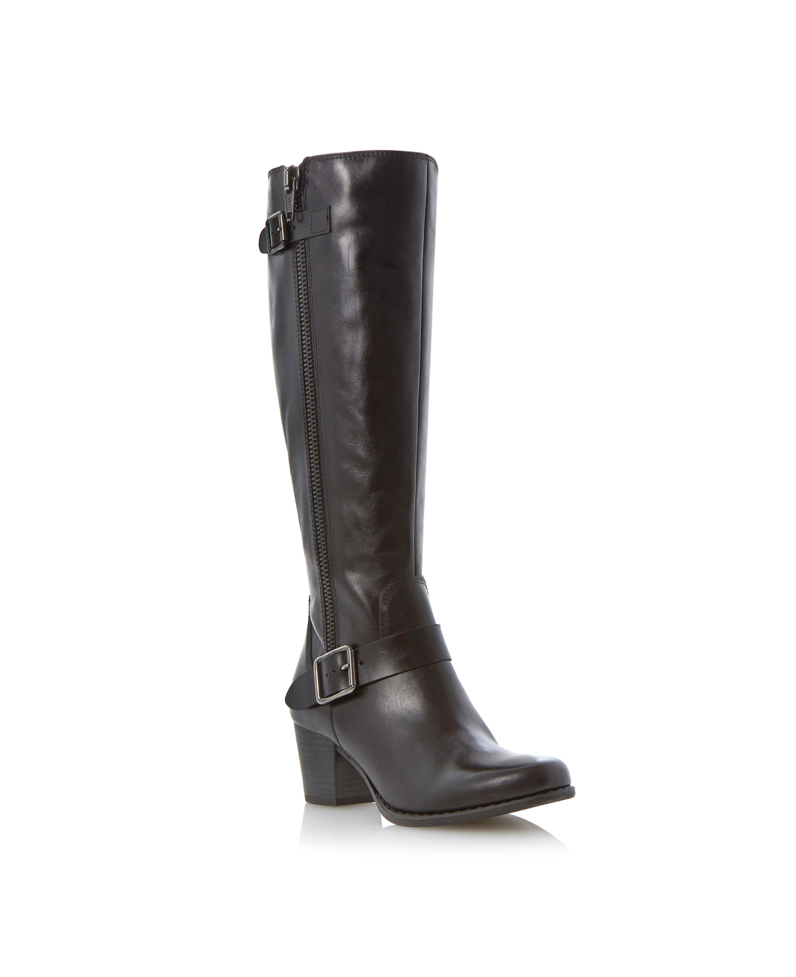 Tylon double buckle zip boots