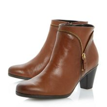 Gabor Onida Zip Detail Leather Ankle Boots