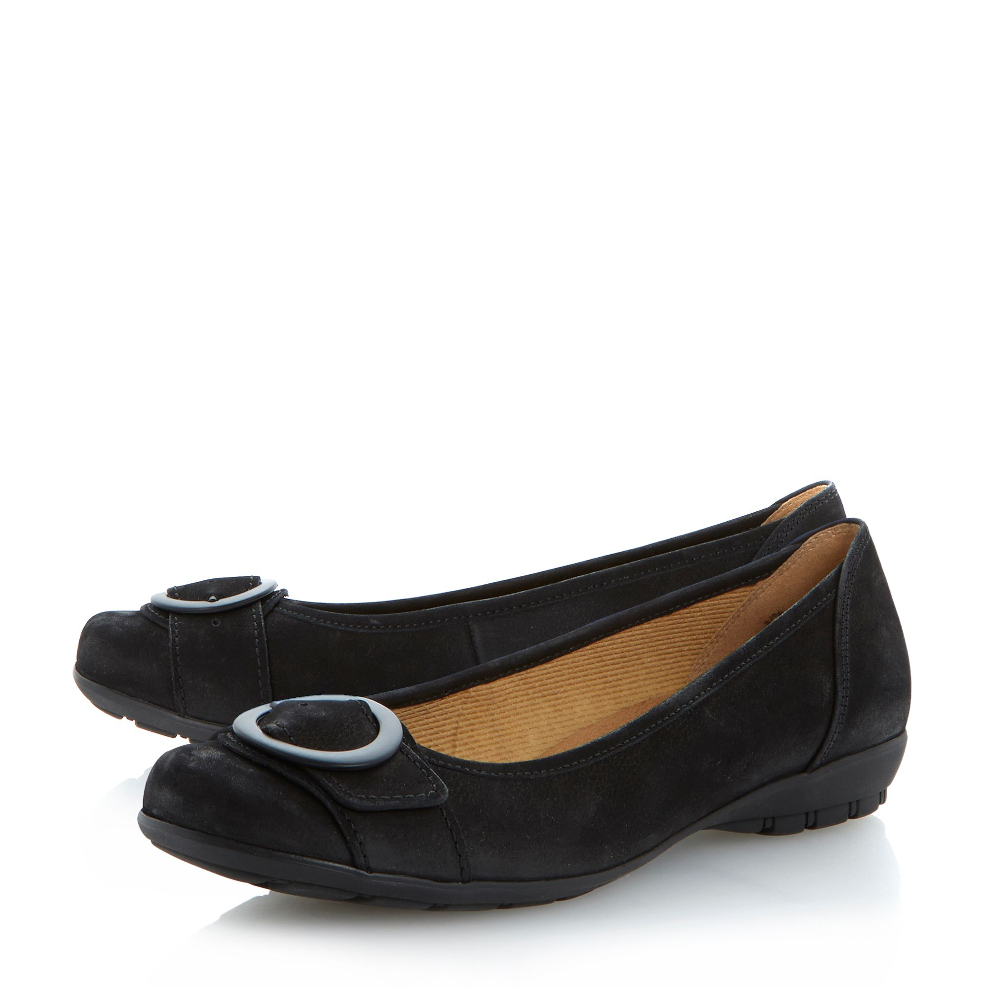 Garda buckle trim flat ballerina pumps