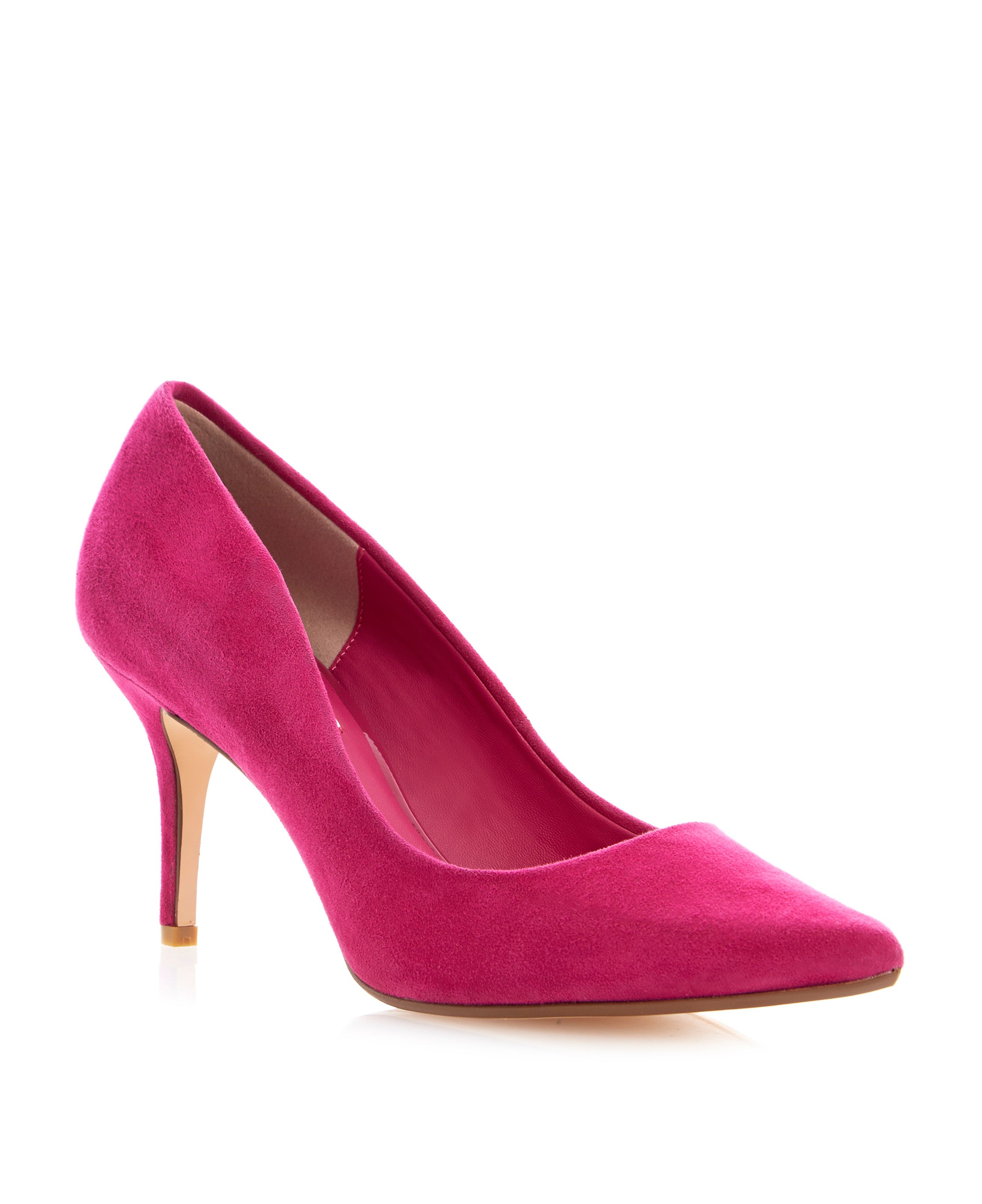 Alina pointed toe mid heel court shoes