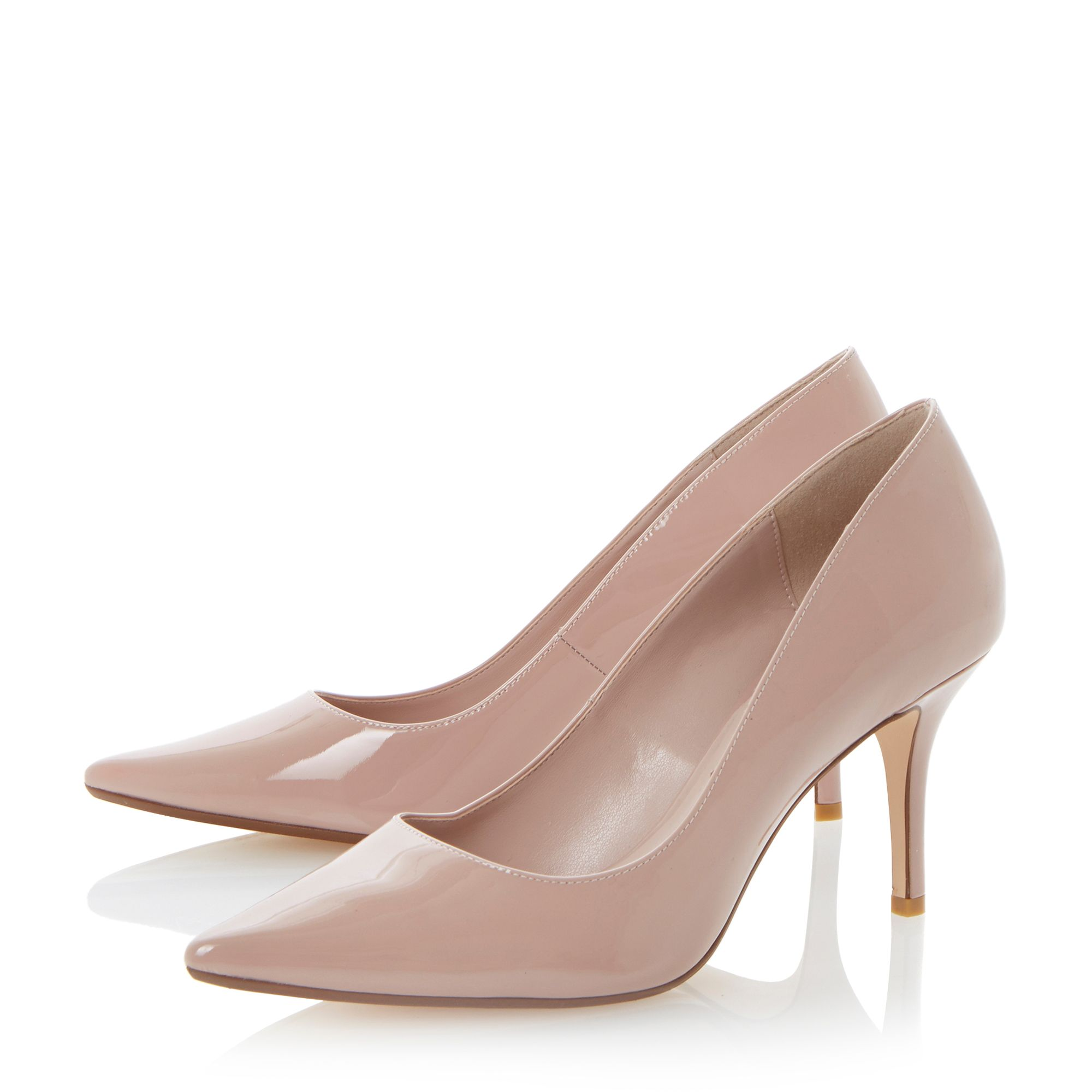 Dune Alina Pointed Toe Mid Heel Court Shoes