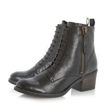 Percey Lace Up Block Heel Boot