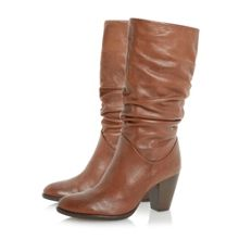 Raddle Pull On Heeled Calf Boot