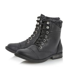 Preston Knitted Cuff Ankle Boot