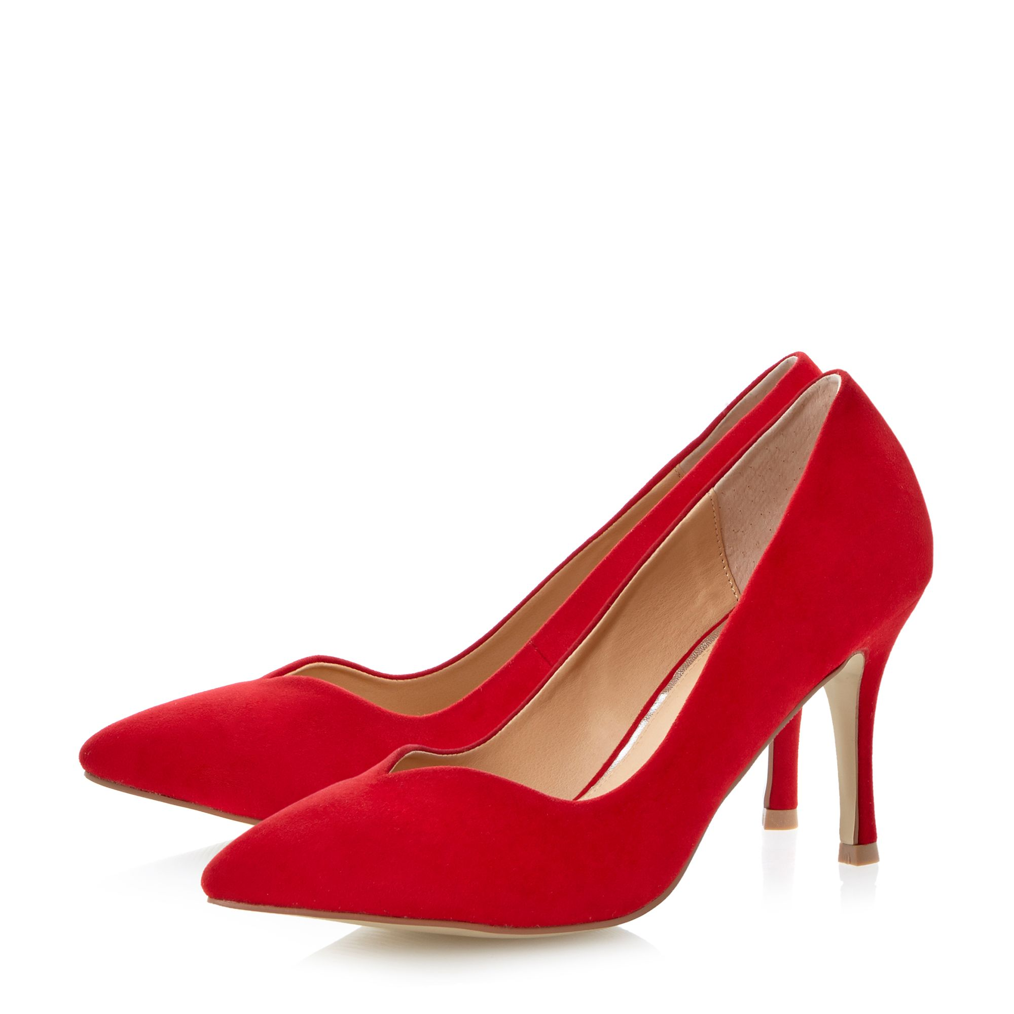 Applejack pointed mid heel court shoes