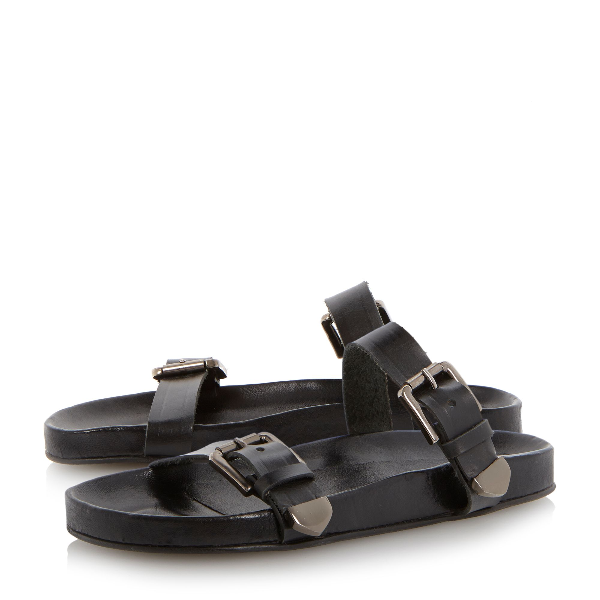 Jac double buckle footbed sandals