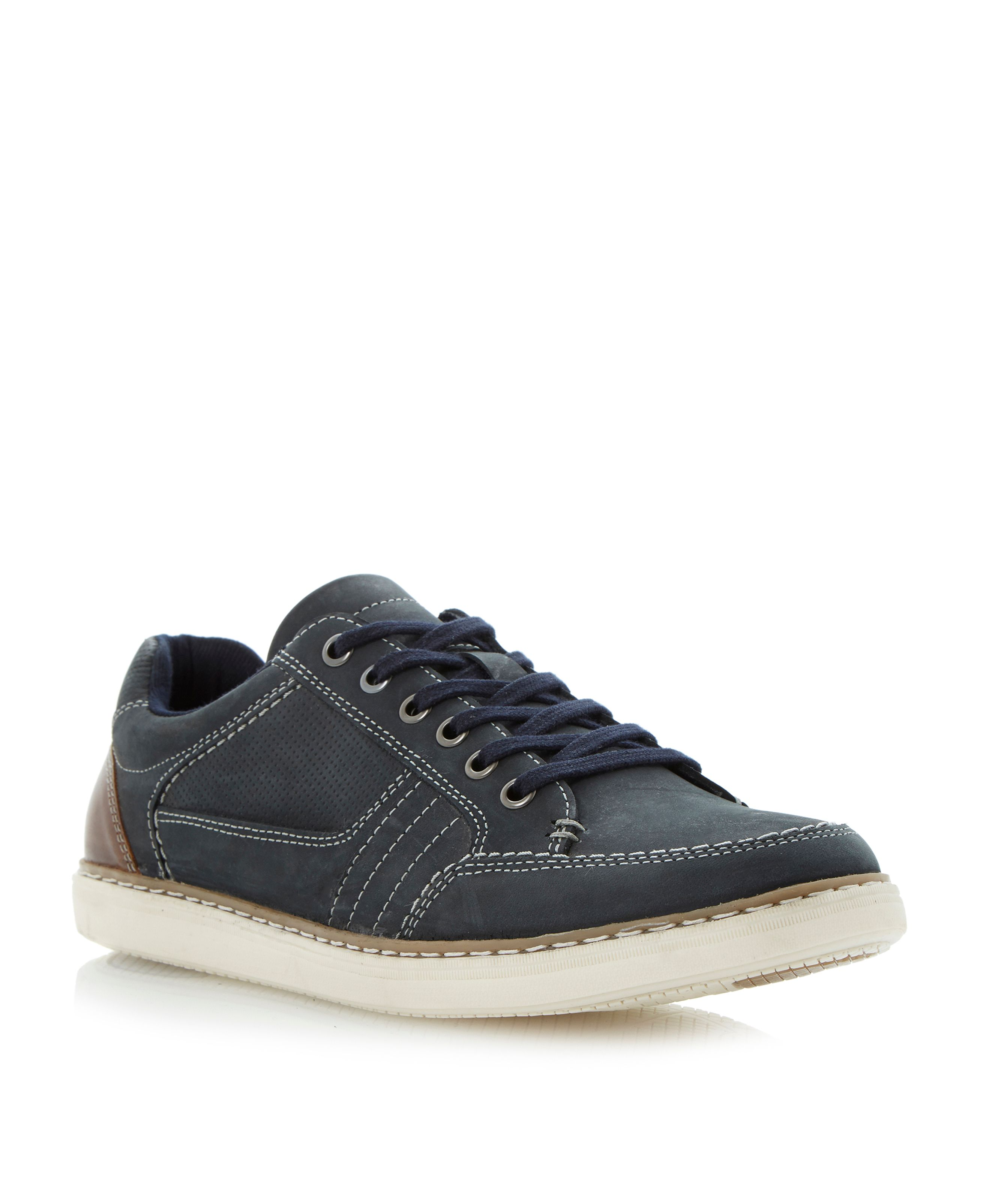 Taken perforated panel lace up trainers