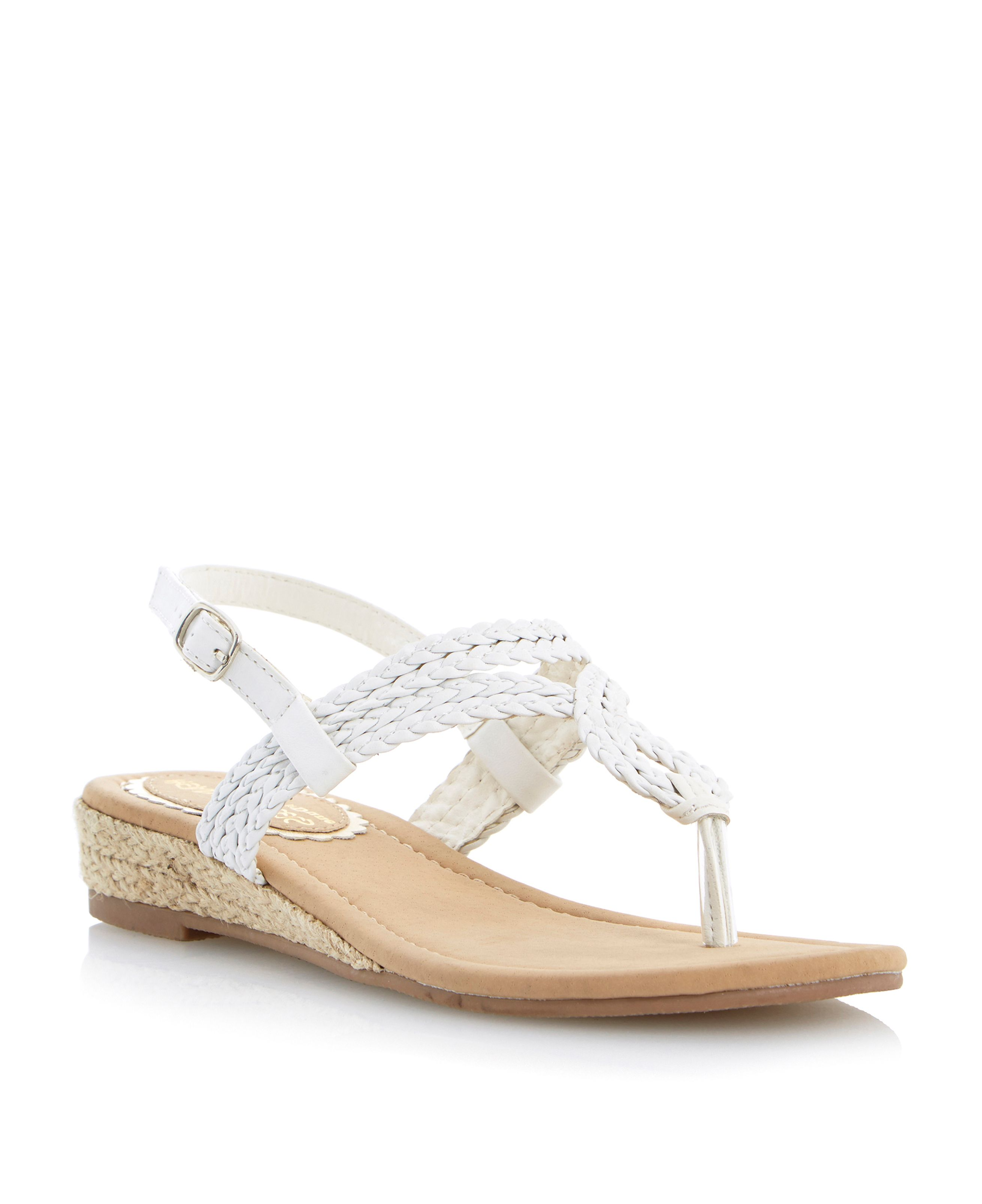 Jonie twisted mini wedge sandals