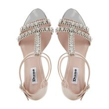 Heaven t-bar diamante sandals