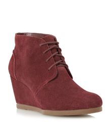 Pippah Suede Wedge Desert Boot