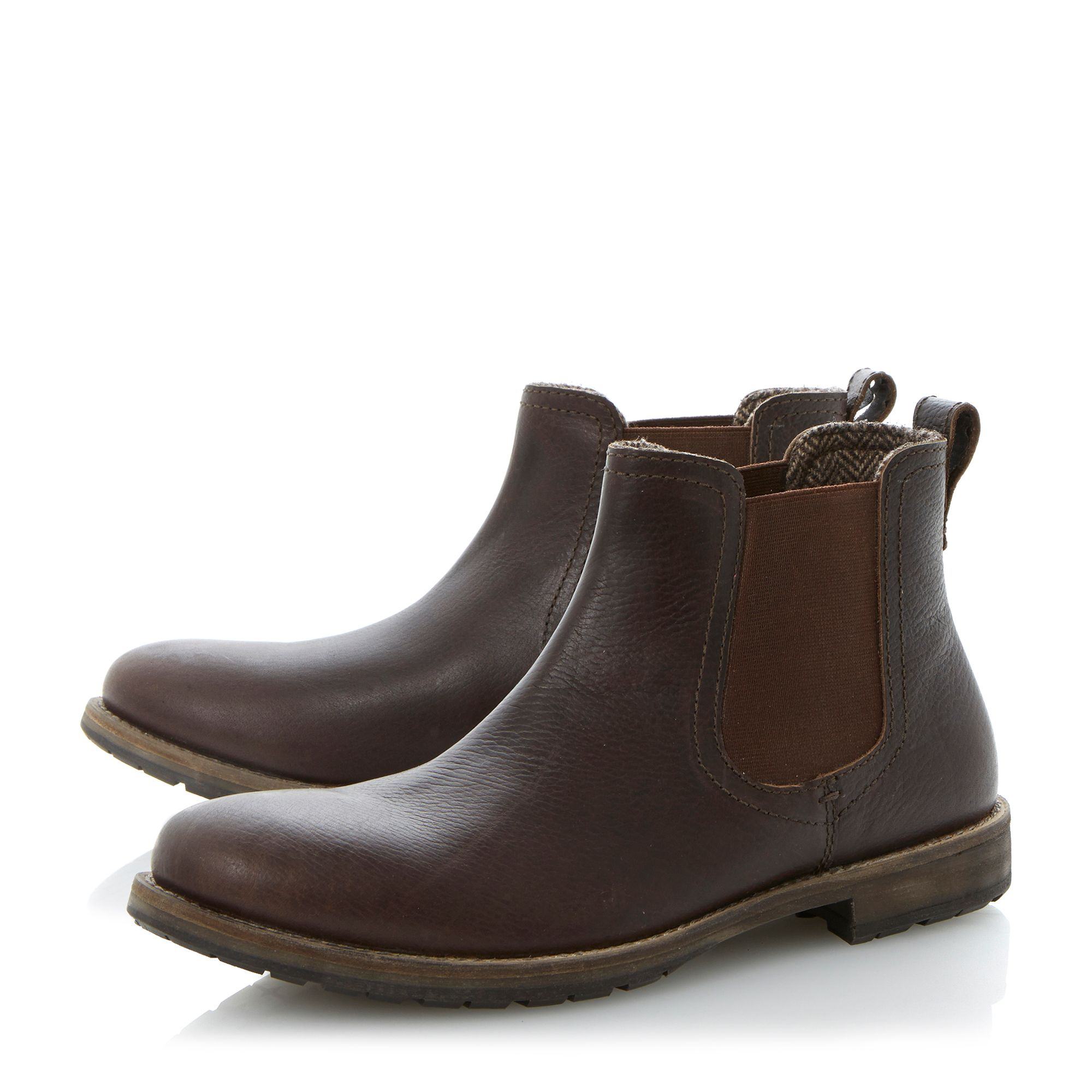 Craft cleated sole  elasticated chelsea boots