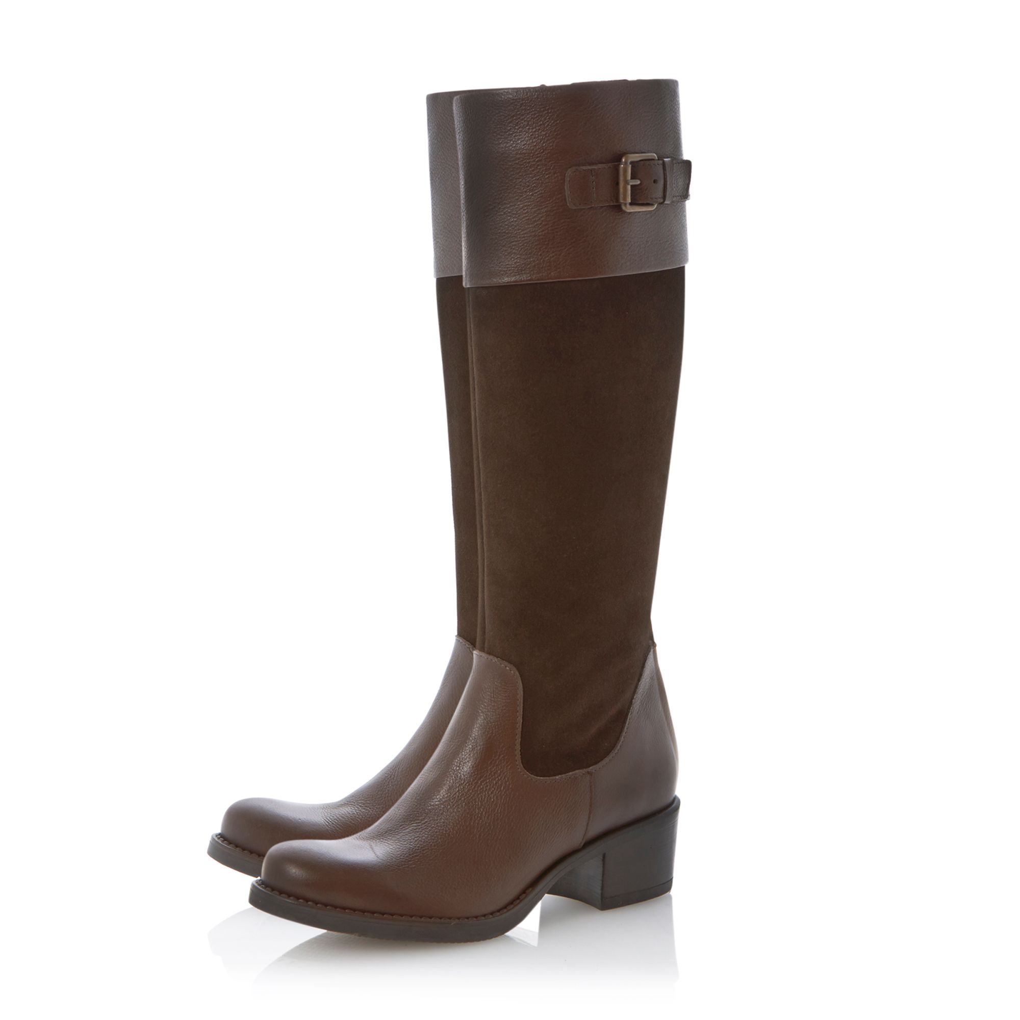 Tonical buckle twotone riding boots
