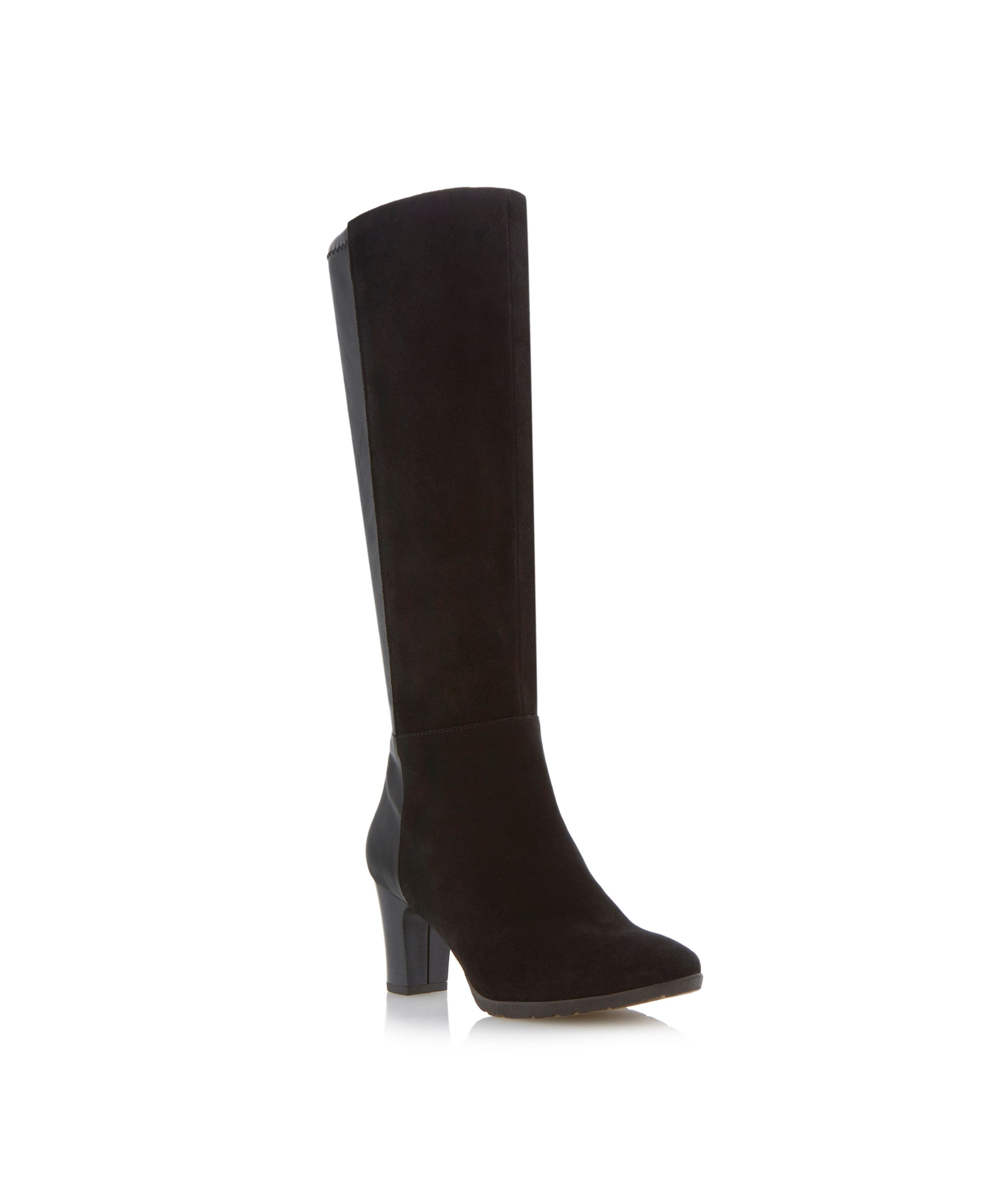 Talsa two tone high leg boots