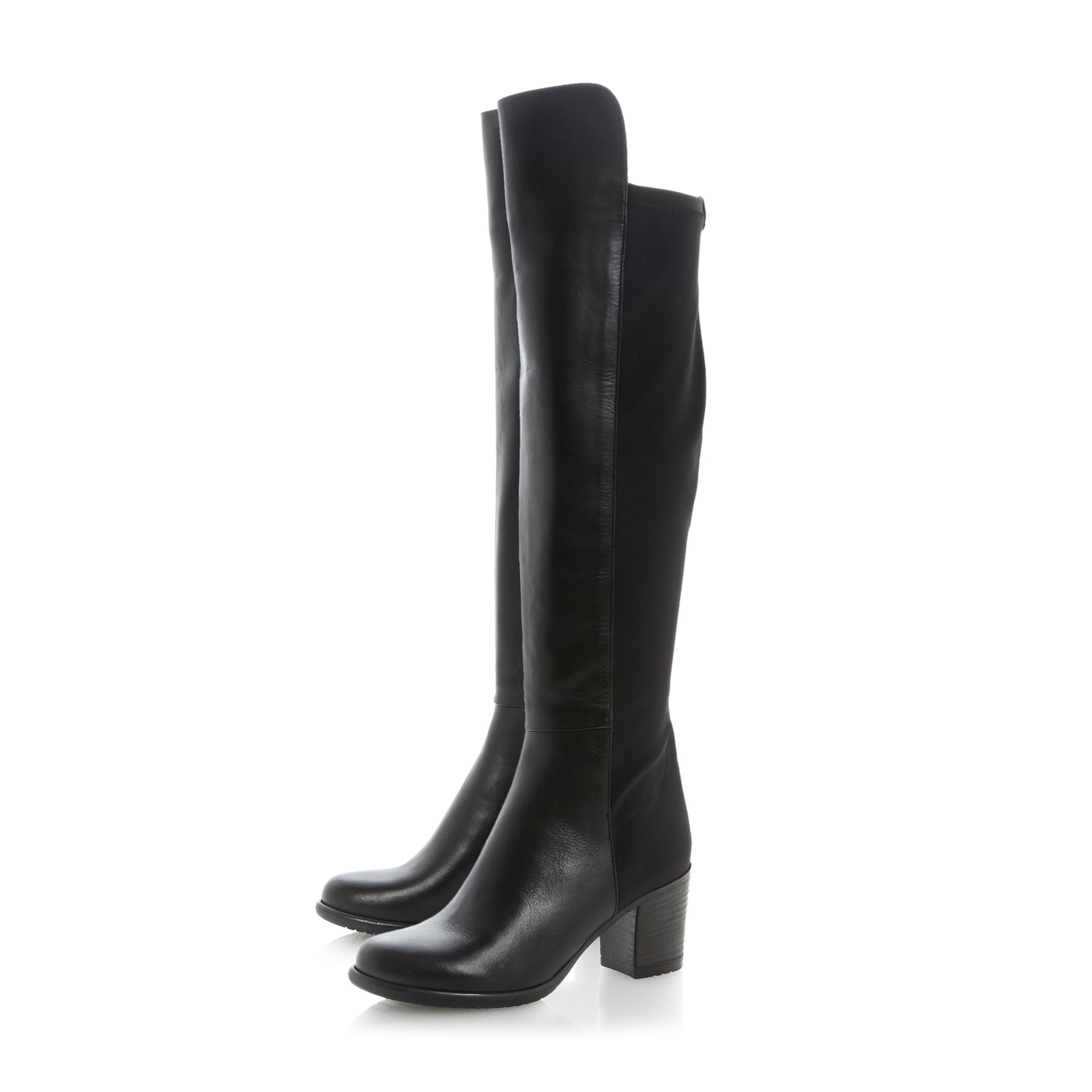 Trudy block heel stretch boots