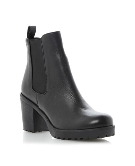 Dune Pring Leather Chelsea Ankle Boot