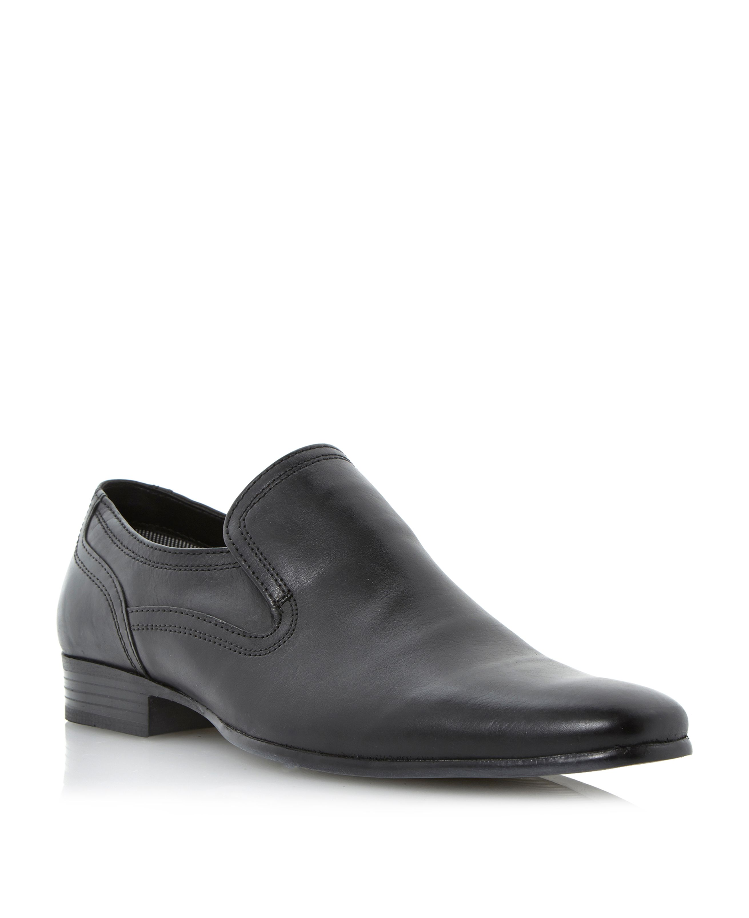 Research plain vamp elasticated loafers