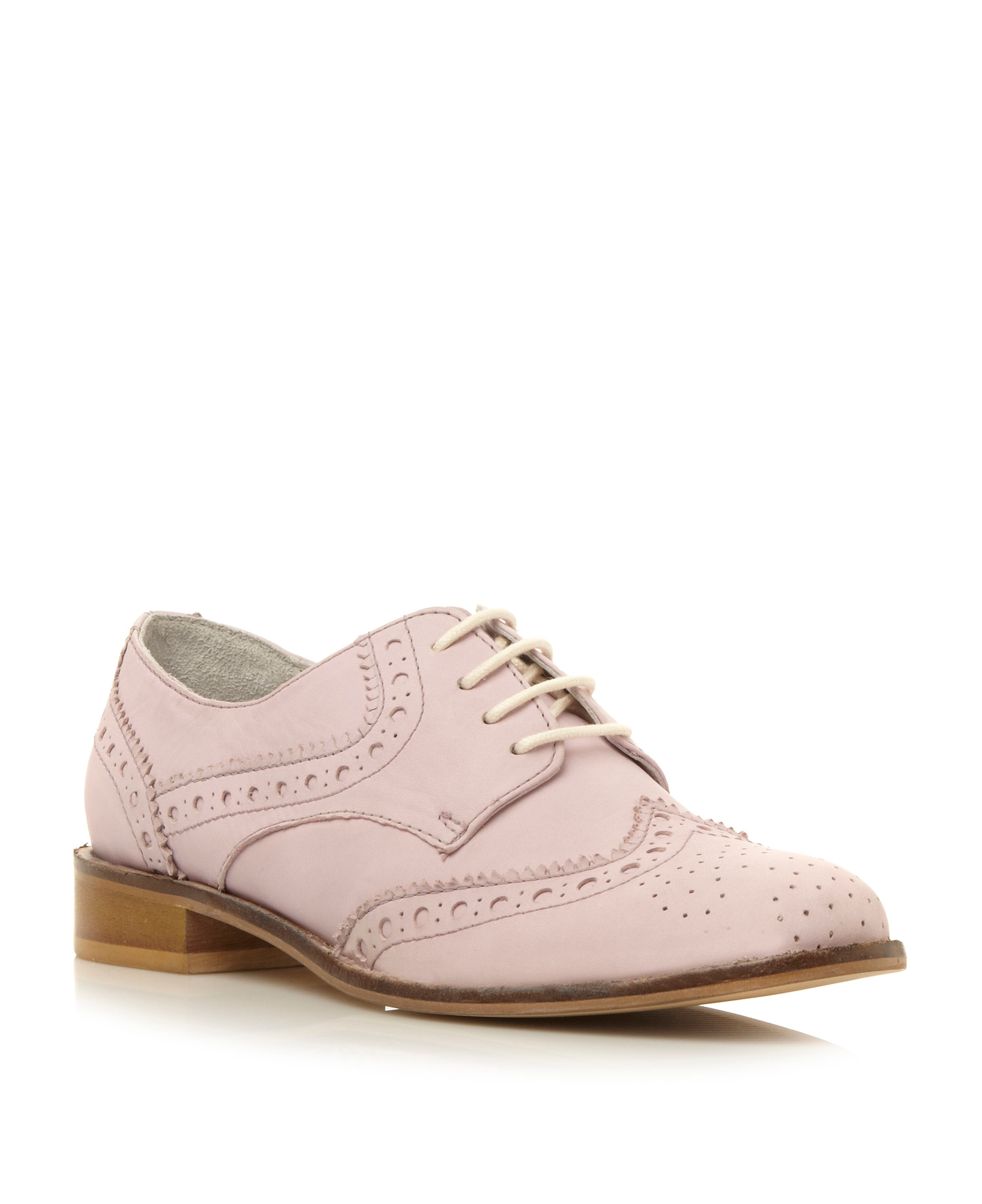Langbury structured lace up brogues